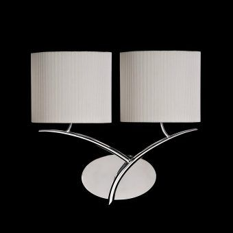 Aplique cromo blanco 2 luces EVE