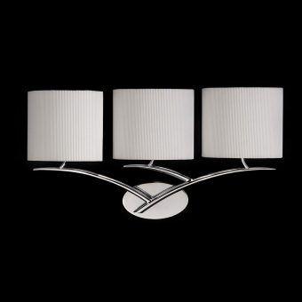 Aplique cromo blanco 3 luces EVE