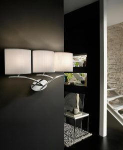 Aplique EVE cromo/blanco 3 luces ambiente