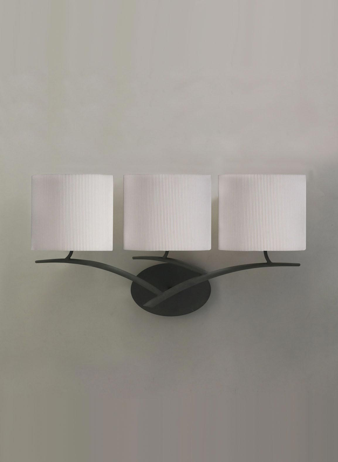Aplique gris blanco 3 luces EVE