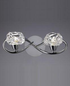 Aplique cromo 2 luces MAREMAGNUM