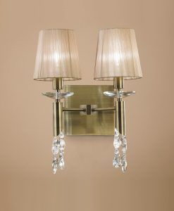 Aplique doble cuero TIFFANY 2+2 luces