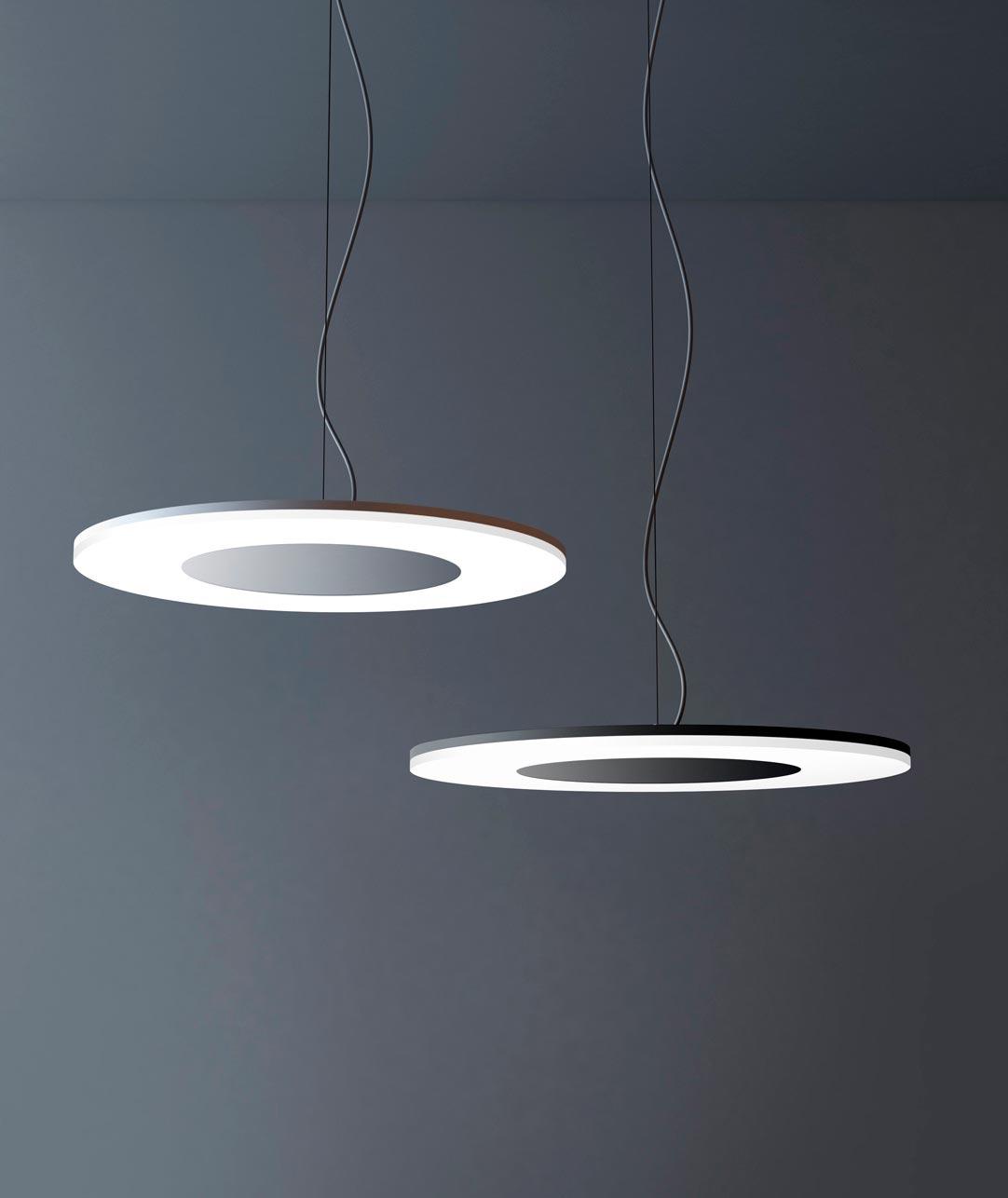 Lámpara colgante DISCOBOLO aluminio ambiente