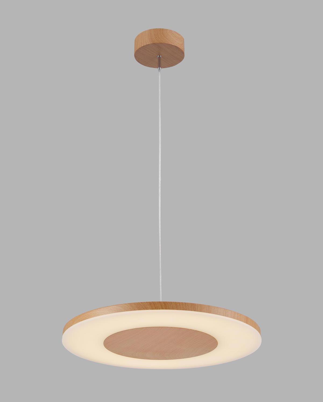 Lámpara colgante DISCOBOLO madera encendida