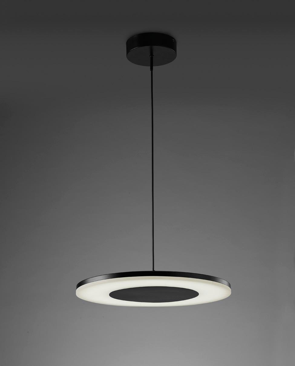 Lámpara colgante negro DISCOBOLO