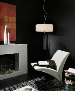 Lámpara colgante EVE cromo/blanco 3 luces ambiente