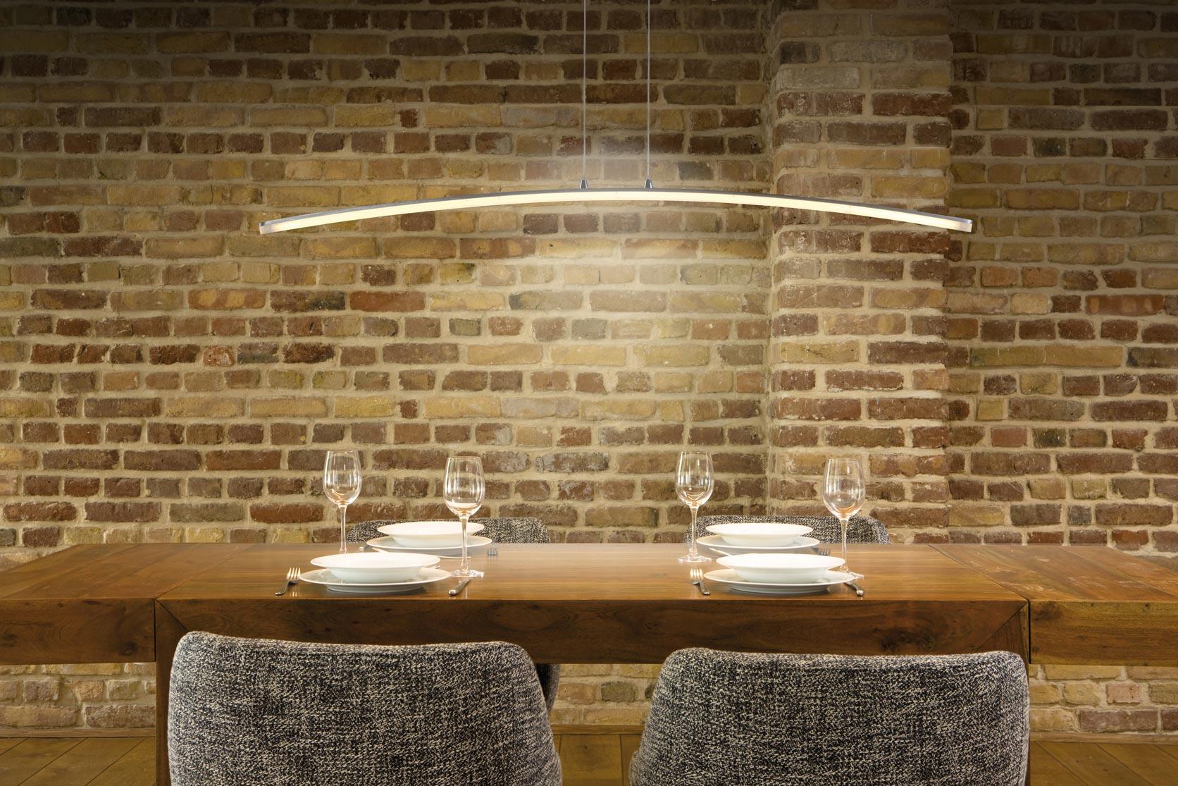 Lámpara colgante HEMISFERIC aluminio grande ambiente