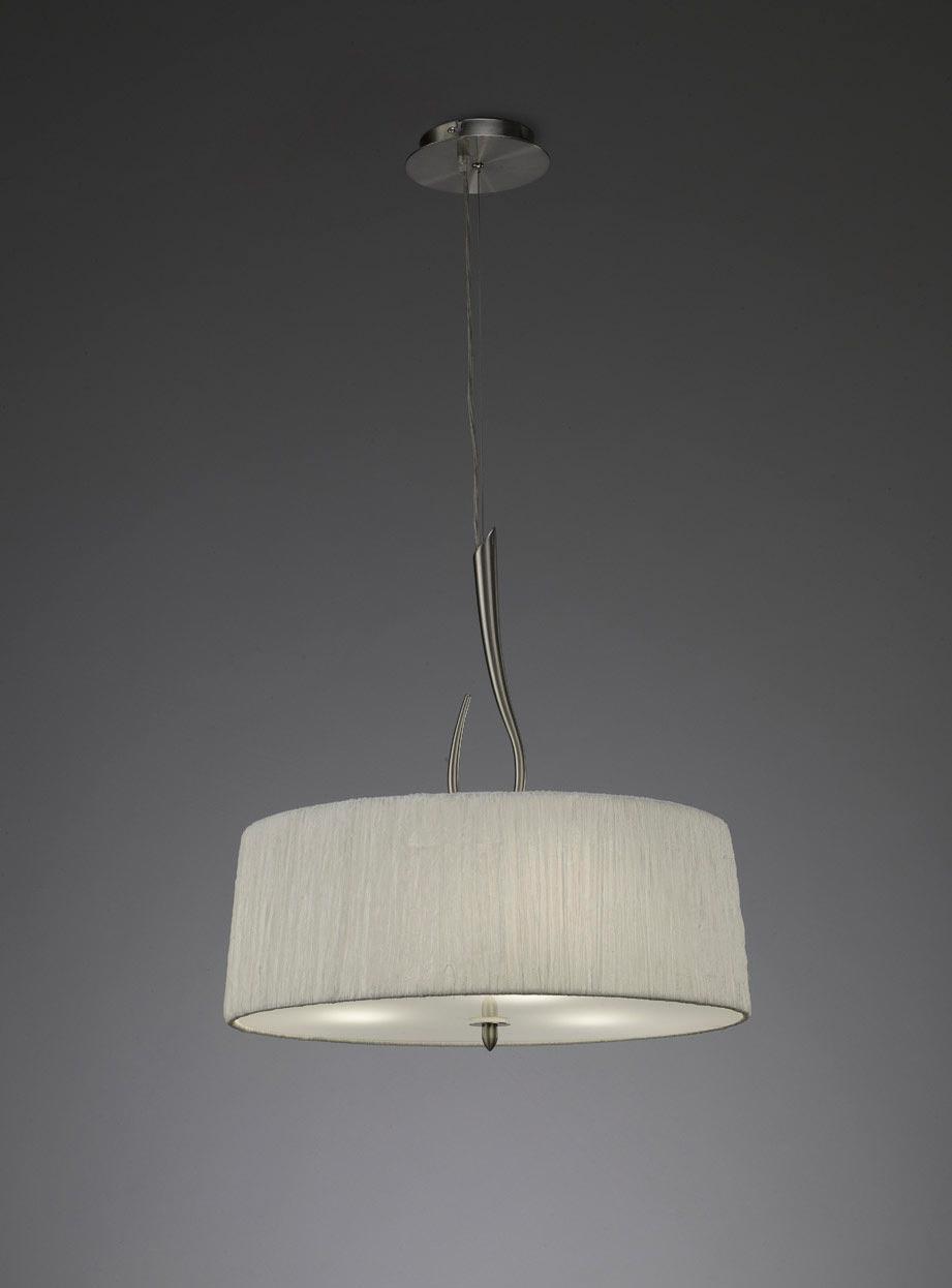 Colgante blanco níquel LUA 3 luces