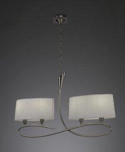 Lámpara lineal blanco níquel LUA