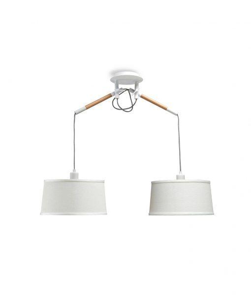 Lámpara blanca 2 brazos NORDICA La Casa de la Lámpara
