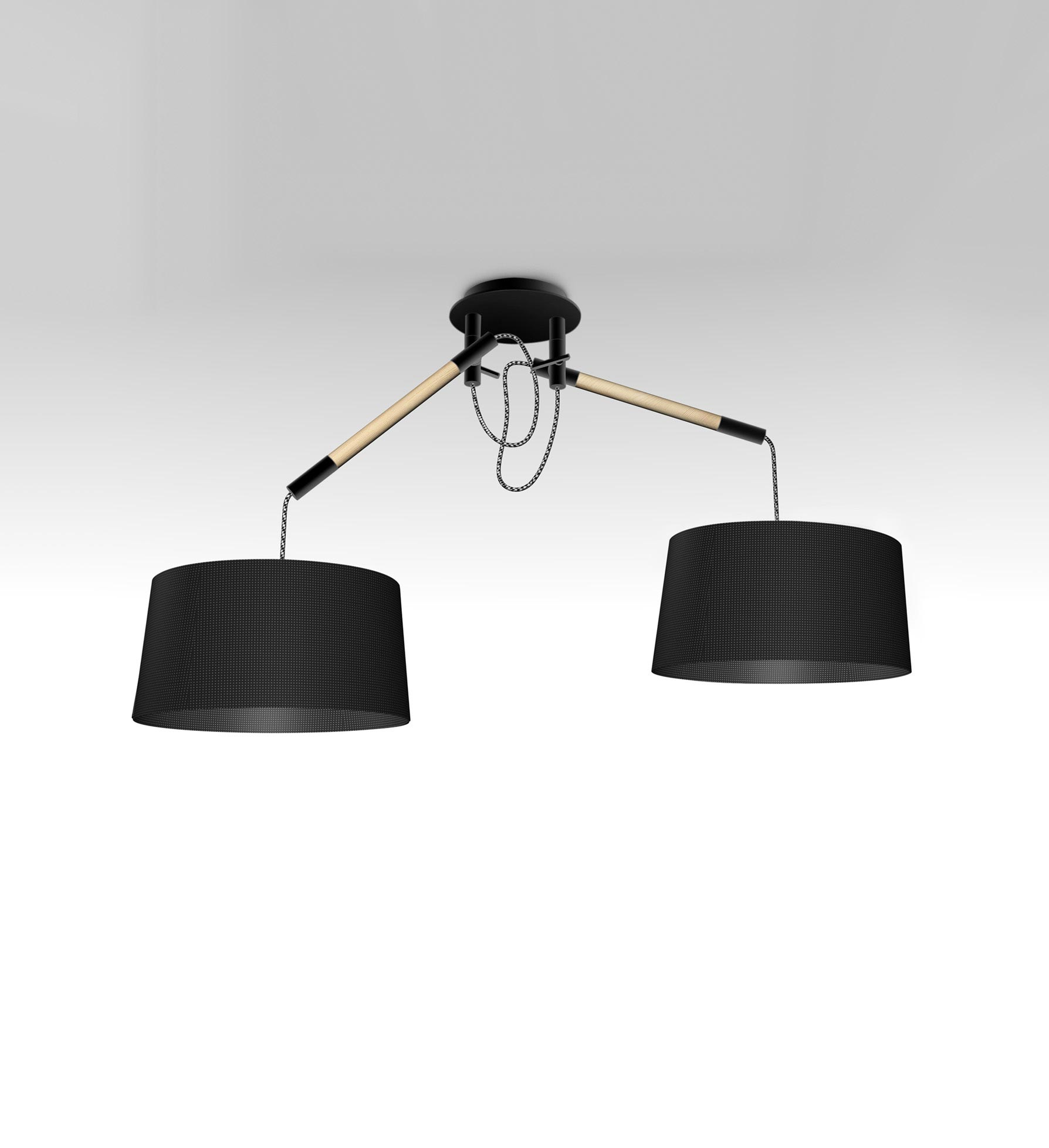 Lámpara negra 2 brazos NORDICA