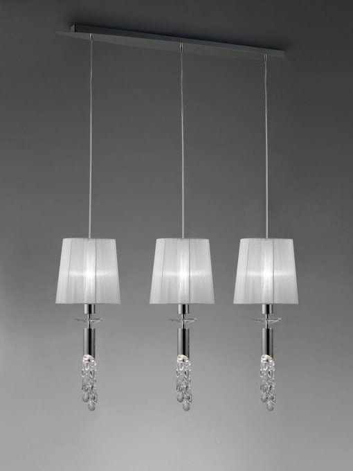 Colgante lineal cromo TIFFANY 3+3 luces
