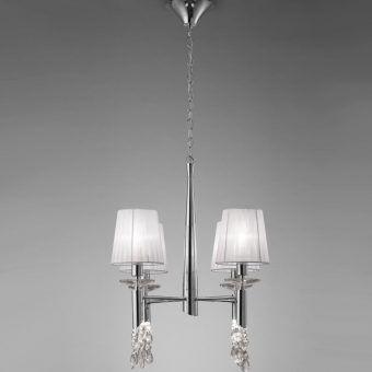 Lámpara pequeña cromo TIFFANY 4+4 luces