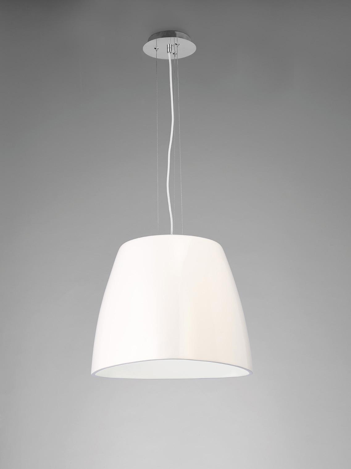 Lámpara colgante blanca grande TRIANGLE