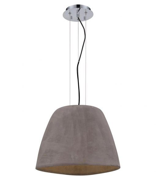 Lámpara colgante cemento grande TRIANGLE