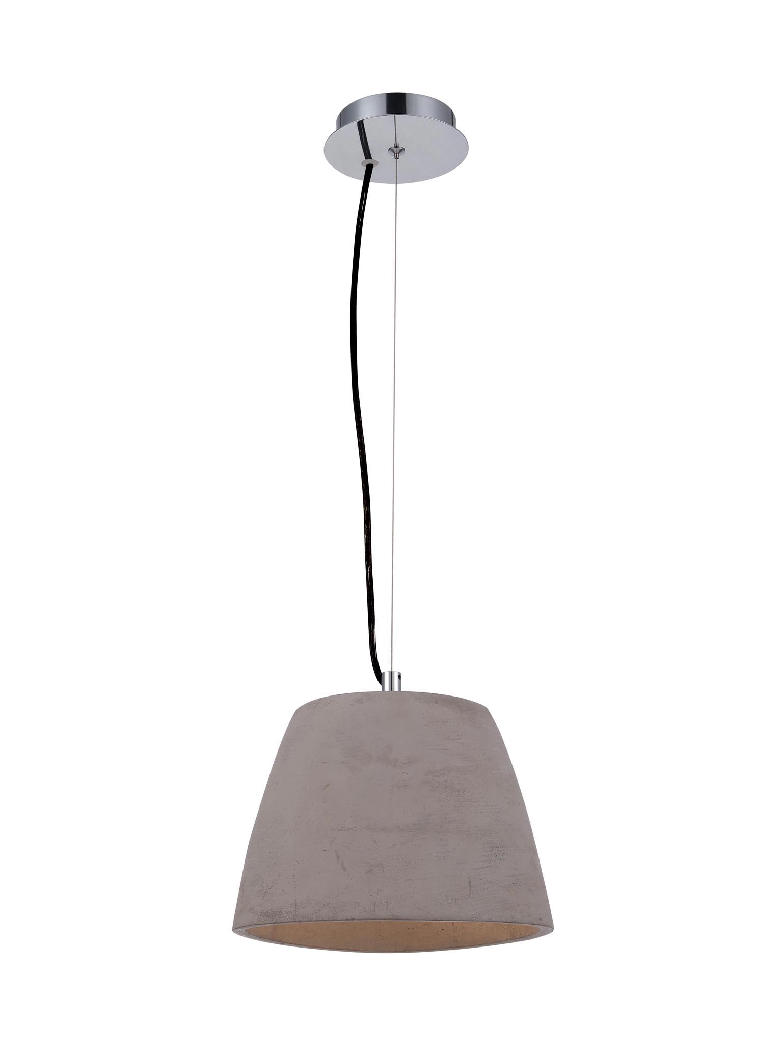 Lámpara colgante cemento pequeña TRIANGLE