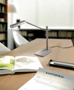 Lámpara de mesa PHUKET níquel satinado ambiente