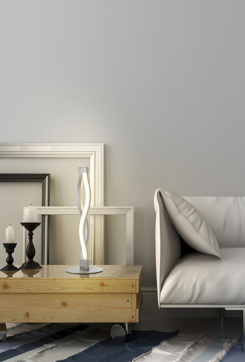 Lámpara de mesa SAHARA plata/cromo ambiente