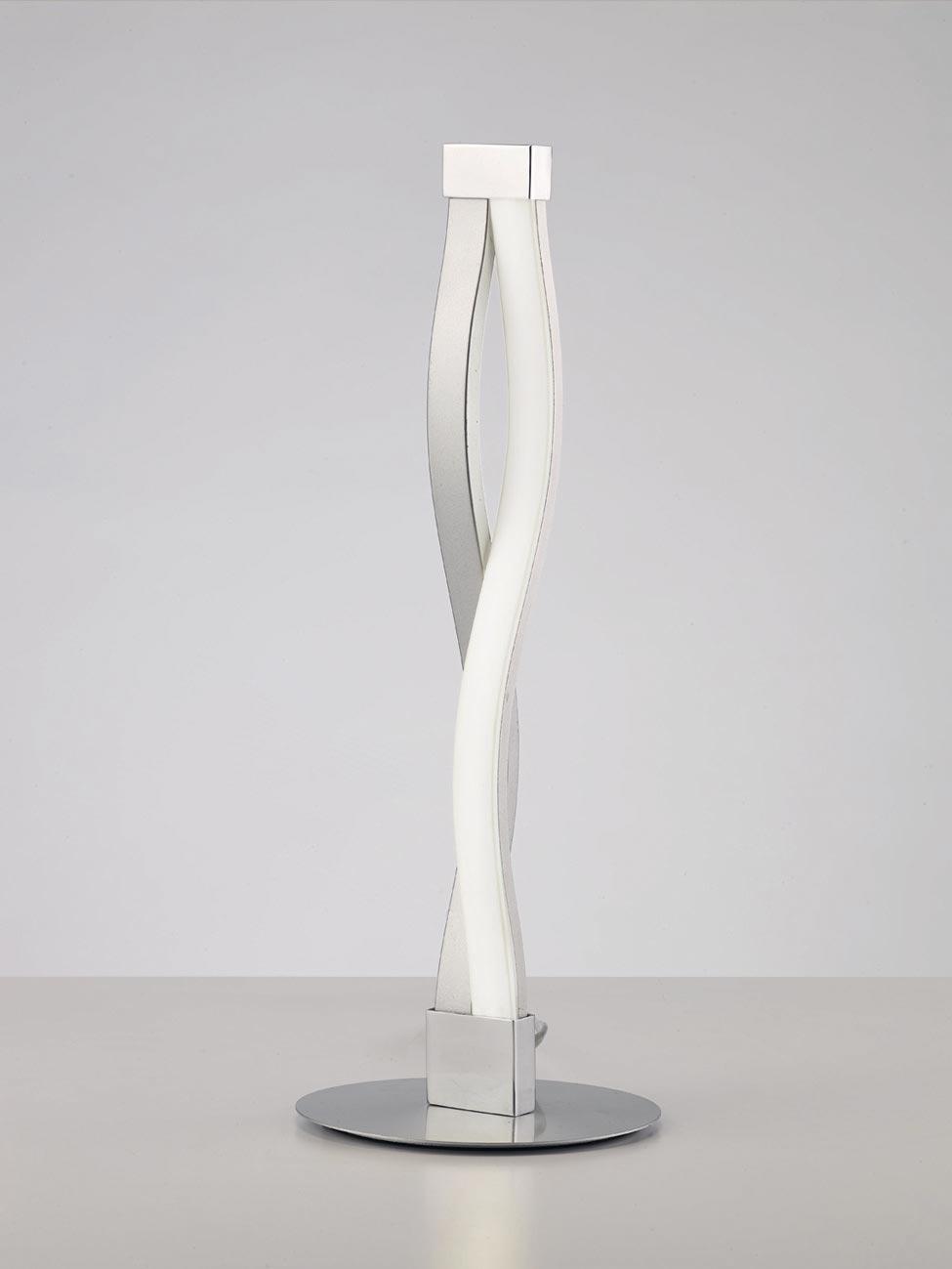 Lámpara de mesa SAHARA plata cromo
