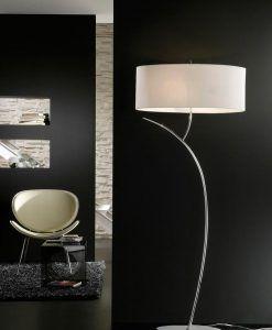 Lámpara de pie EVE cromo/blanco ambiente