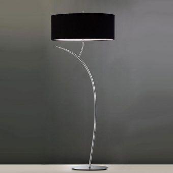 Lámpara de pie cromo negro EVE