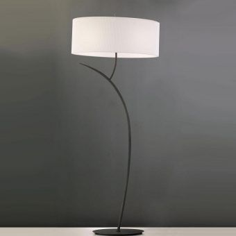 Lámpara de pie gris blanco EVE
