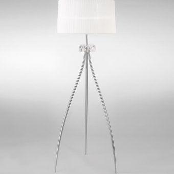 Lámpara de pie cromo LOEWE