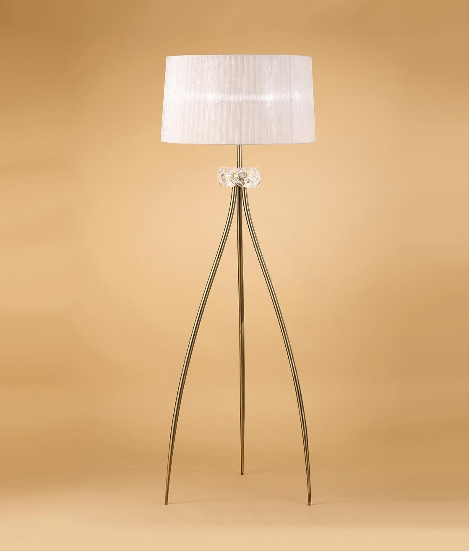 Lámpara de pie cuero LOEWE