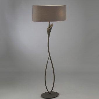 Lámpara de pie gris ceniza LUA