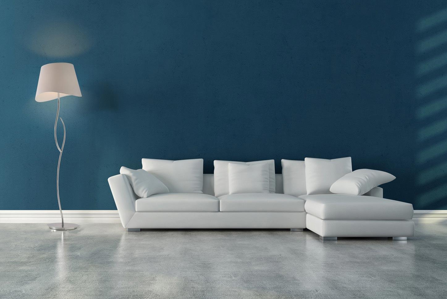 Lámpara de pie NINETTE cromo/blanco ambiente