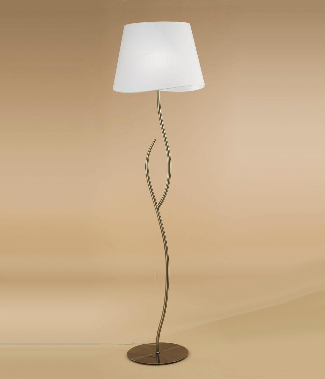 Lámpara de pie cuero blanco NINETTE