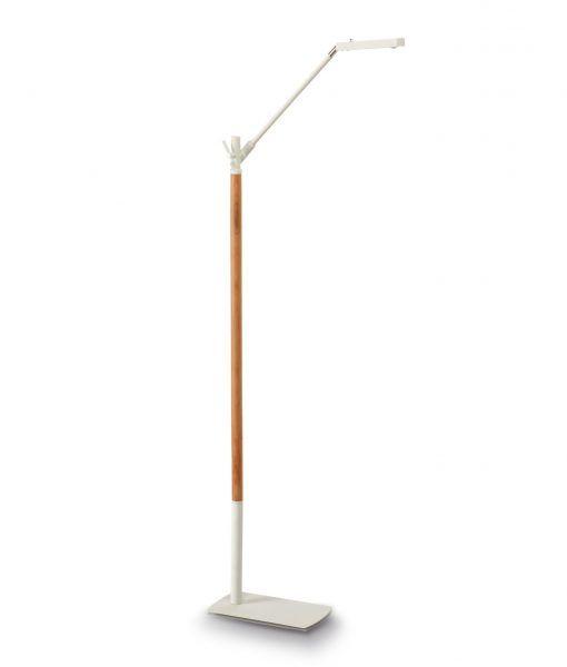 Lámpara de pie blanco madera PHUKET