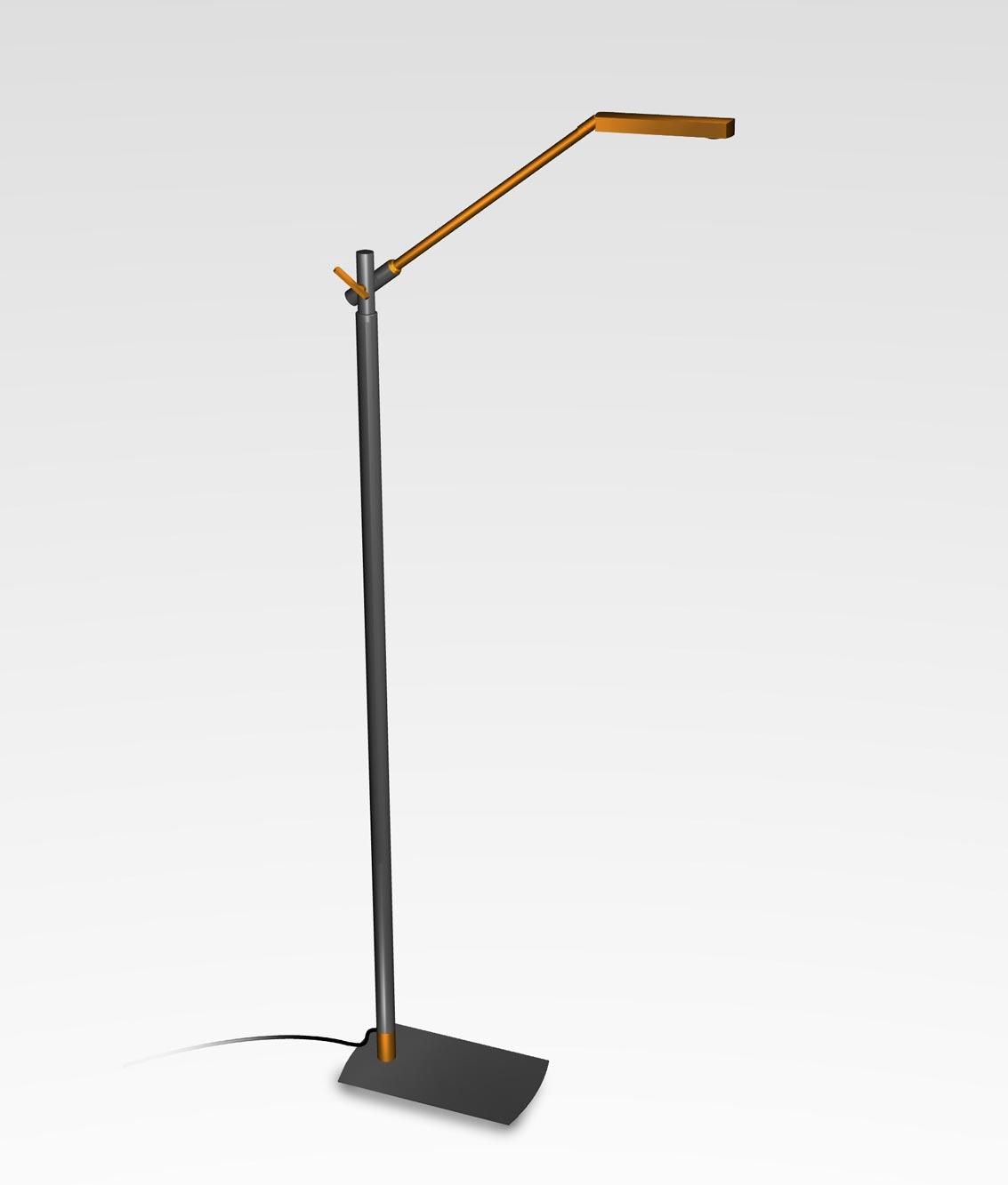 Lámpara de pie cobre antracita PHUKET