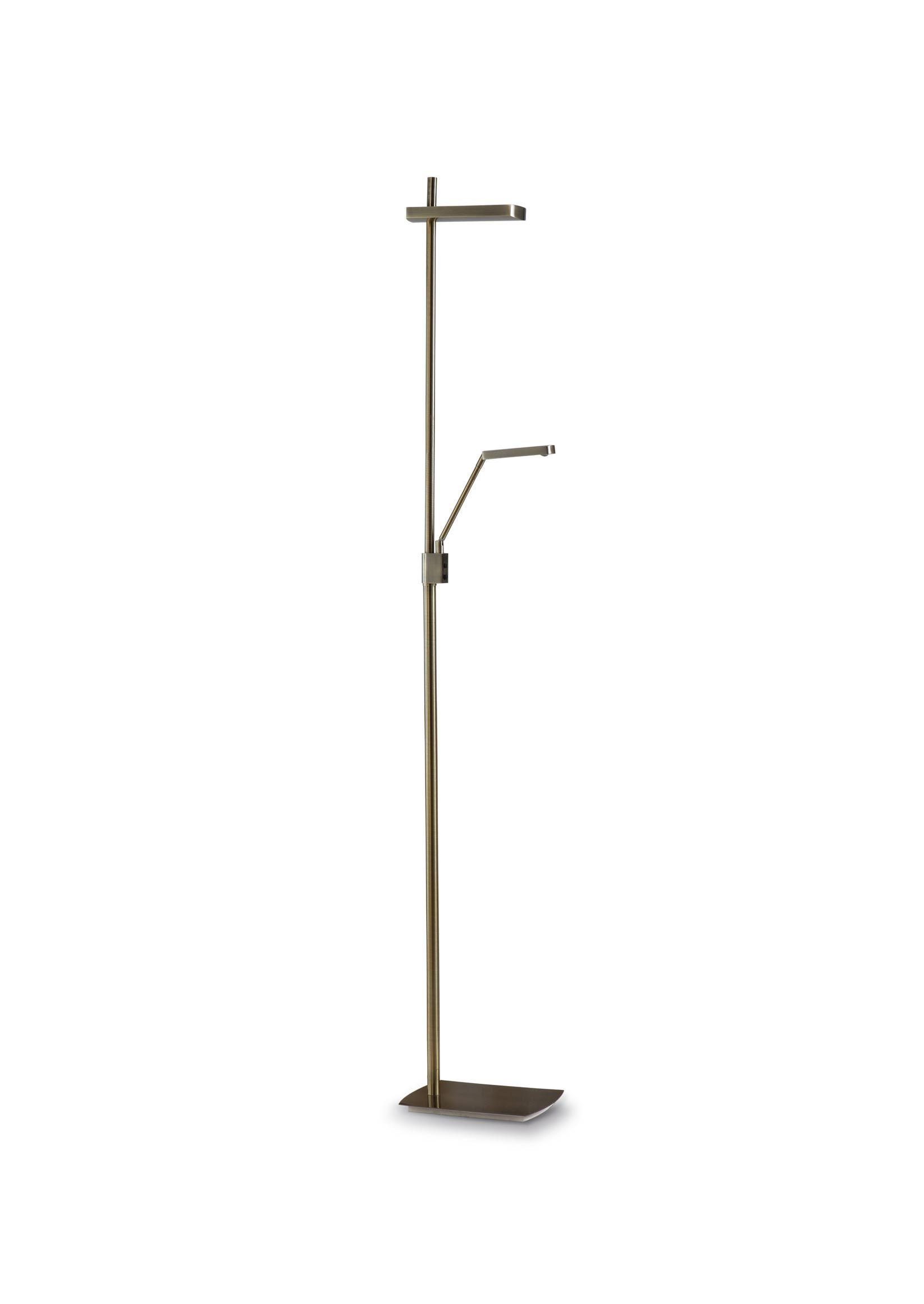 Lámpara de pie cuero 2 luces PHUKET
