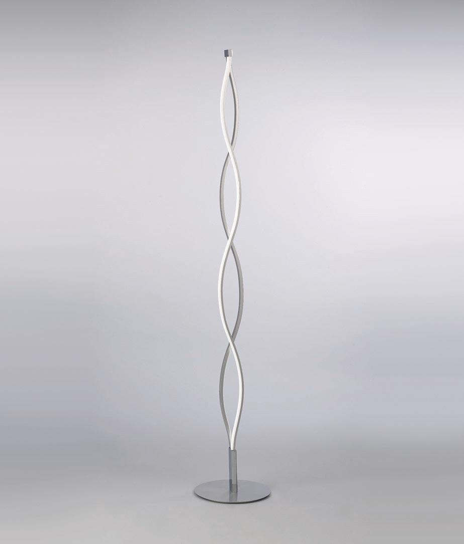 Lámpara de pie SAHARA plata cromo