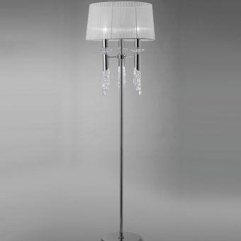 Pie de salón cromo TIFFANY 3+3 luces