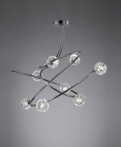 Lámpara MAREMAGNUM cromo 8 luces posición