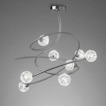 Lámpara cromo 8 luces MAREMAGNUM