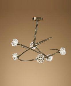 Lámpara MAREMAGNUM cuero 6 luces posición