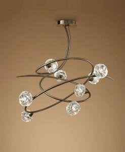 Lámpara MAREMAGNUM cuero 8 luces posición