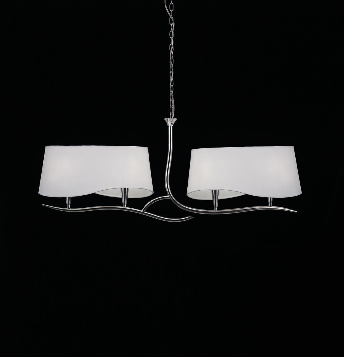 Lámpara lineal cromo blanco NINETTE 4 luces
