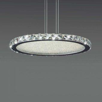 Lámpara redonda cromo grande CRYSTAL LED
