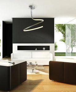 Lámpara simple NUR plata/cromo ambiente