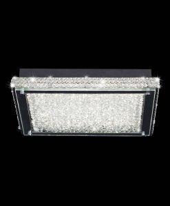 Plafón cuadrado cromo grande CRYSTAL LED