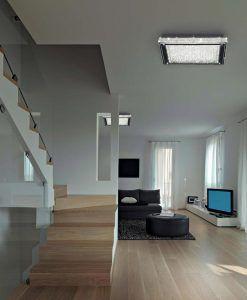 Plafón cuadrado CRYSTAL LED cromo ambiente
