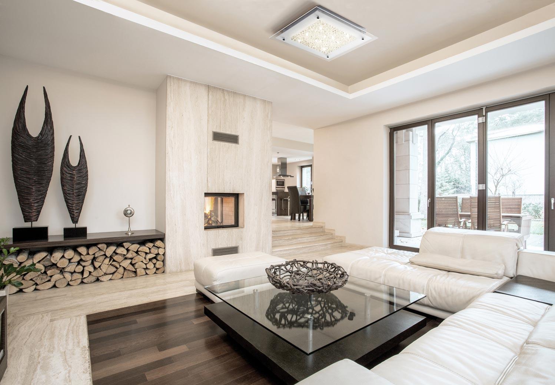 Plafón cuadrado CRYSTAL LED cromo/espejo grande ambiente