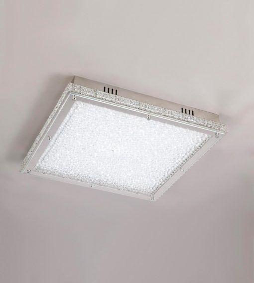 Plafón cuadrado cromo pequeño CRYSTAL LED