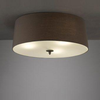 Plafón gris ceniza LUA 3 luces