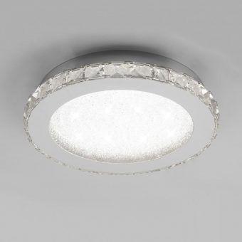 Plafón redondo cromo pequeño CRYSTAL LED