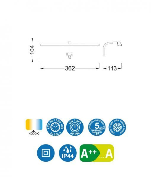 Medidas aplique cuadros SISLEY plata cromo
